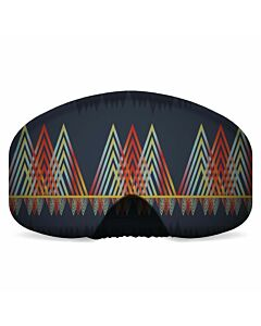 Black Strap Goggle Cover- Gradient Peaks