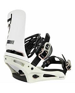 Burton Cartel X Snowboarding Binding Men's- White/ Gray/ Logo