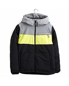 Burton Ropedrop Jacket Boy's- True Black/ Shark Skin/ Yellow