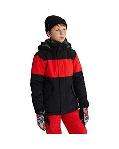 Burton Symbol Jacket Boy's- True Black/ Flame Scarlet