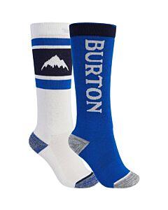 Burton Weekend 2 Pack Sock Kid's- Stowe White/ Lapis Blue