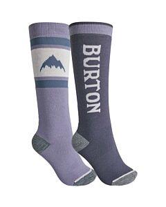 Burton Weekend Midweight 2 Pack Socks Women's- Foxglove Violet/ Folkstone Grey