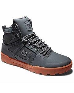 DC Pure High-Top Boot Men's- Grey/ Gum