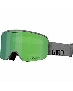 Giro Axis Goggle- Grey Wordmark w/ Vivid Emerald + Vivid Infrared