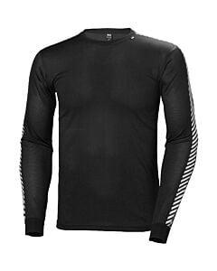 Helly Hansen Lifa Dry Stripe Crew Baselayer Men's- Black