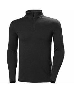 Helly Hansen Lifa Merino Midweight 1/2 Zip Shirt Men's- Black