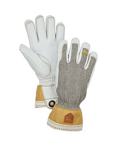 Hestra Army Leather Glove Men's- Light Grey/ Natural
