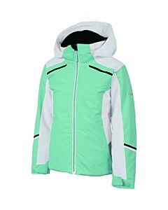 Karbon Magik Jacket Girl's- Neo Mint/ Arctic White