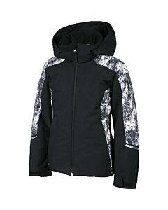 Karbon Magik Jacket w/ Fur Girl's- Black Snake