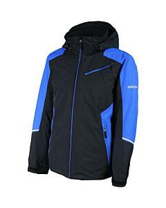Karbon Matter Jacket Men's- Black/ Macaw Blue
