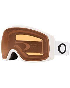 Oakley Flight Tracker Goggle- Matte White w/ Prizm Persimmon