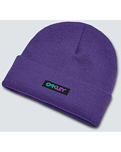 Oakley Gradient Patch Beanie- Deep Violet