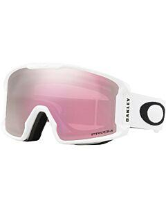 Oakley Line Miner XM Goggle- Matte White w/ Prizm Hi Pink Iridium