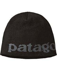Patagonia Beanie Hat- Logo Belwe: Black