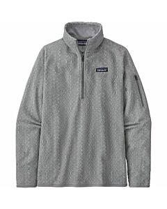 Patagonia Better Sweater 1/4 Zip Women's- Frozen Jaquard: Salt Grey