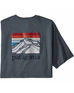 Patagonia Line Logo Ridge Pocket Tee Men's- Plume Grey