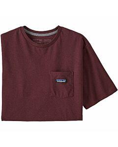 Patagonia P-6 Label Pocket Tee Men's- Dark Ruby