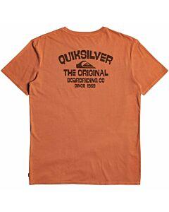 Quiksilver Far Out Dust Moz Tee Men's- Cinnamon