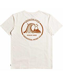 Quiksilver Mirror Logo Moz Tee Men's- Antique White