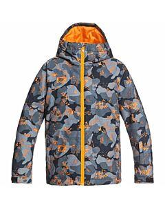 Quiksilver Mission Jacket Boy's- Flame Orange