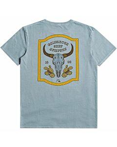 Quiksilver Wild Cad Moz Tee Men's- Citadel Blue