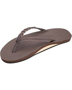 Rainbow Leather Flirty Braid Sandal Women's- Mocha
