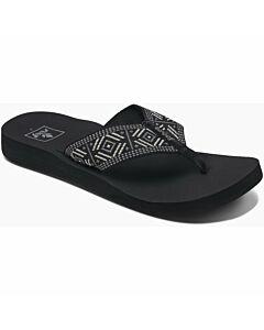 Reef Spring Woven Sandal Women's- Black/ White