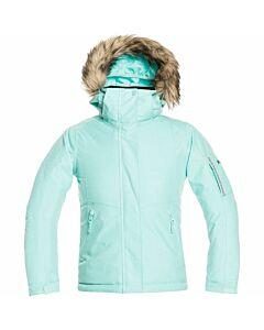 Roxy Meade Jacket Girl's- Aruba Blue