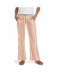 Roxy Oceanside Pant Yarn Dye Women's- Golden Ochre Stripe
