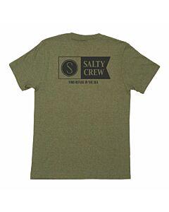 Salty Crew Alpha Tee Men's- Forest Heather