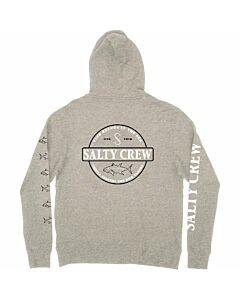 Salty Crew Deep Sea Zip Fleece Hoodie Men's- Gunmetal Heather