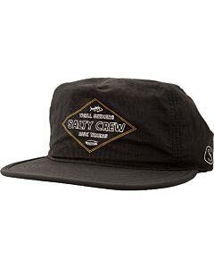 Salty Crew Two Fold 5Panel Hat- Black