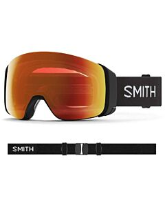 Smith 4D Mag Goggle- Black w/ Chromapop Everyday Red + Storm Yellow