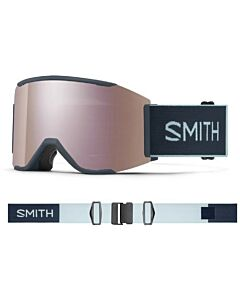 Smith Squad Mag Goggle- French Navy w/ Chromapop Everyday Rose Gold + Storm Yellow