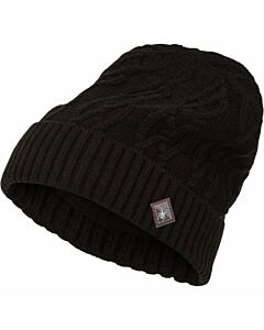 Spyder Cable Knit Beanie- Black