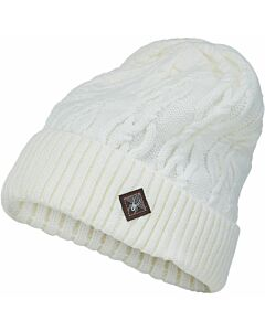 Spyder Cable Knit Beanie- White