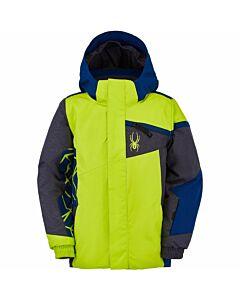 Spyder Mini Challenger Jacket Boys- Sharp Lime