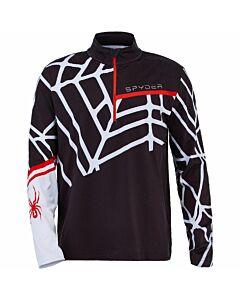 Spyder Vital Zip T-Neck Men's- Black White