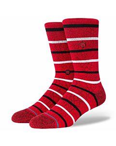 Stance Cobwebs Sock- Red