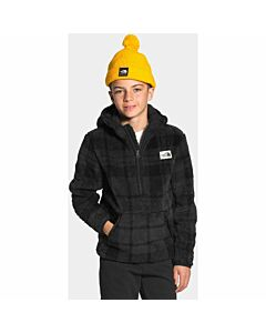 The North Face Campshire Hoodie Boy's- TNF Black Heritage Plaid