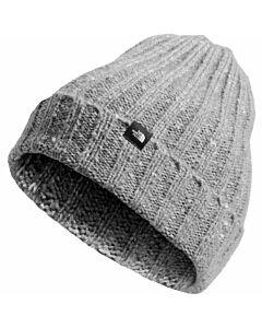 The North Face Chunky Rib Beanie- TNF Medium Grey Heather