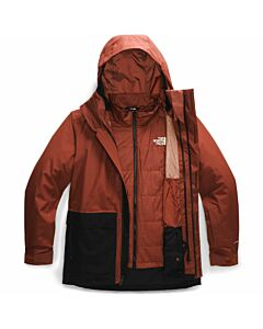The North Face Clement TriClimate Jacket Men's- Brandy Brown/ TNF Black