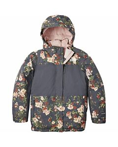 The North Face Free Extreme Insulated Jacket Girl's- Vandis Grey Print