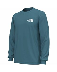 The North FAce L/S Box NSE Tee Men's- Storm Blue
