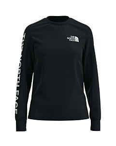 The North Face L/S Brand Proud Tee Women's- TNF Black/ TNF White