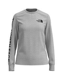 The North Face L/S Brand Proud Tee Women's- TNF Light Grey Heather