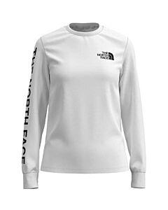 The North Face L/S Brand Proud Tee Women's- TNF White/ TNF Black