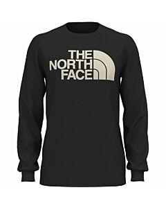 The North Face L/S Half Dome Tee Men's- TNF Black/ Vintage White