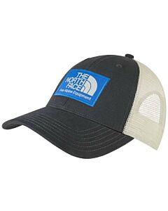 The North Face Mudder Trucker Hat- Asphalt Grey/ Hero Blue/ Vintage White