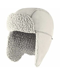 The North Face Recycled Ridge Fleece Trapper Hat- Gardenia White